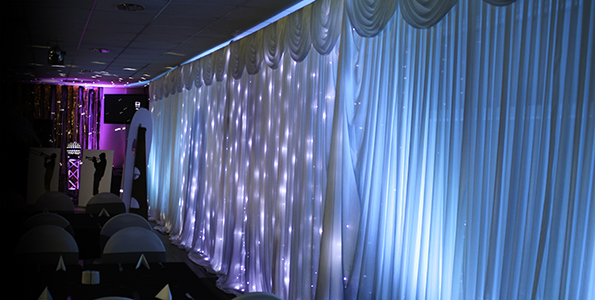 Fairylight backdrop hire South Wales