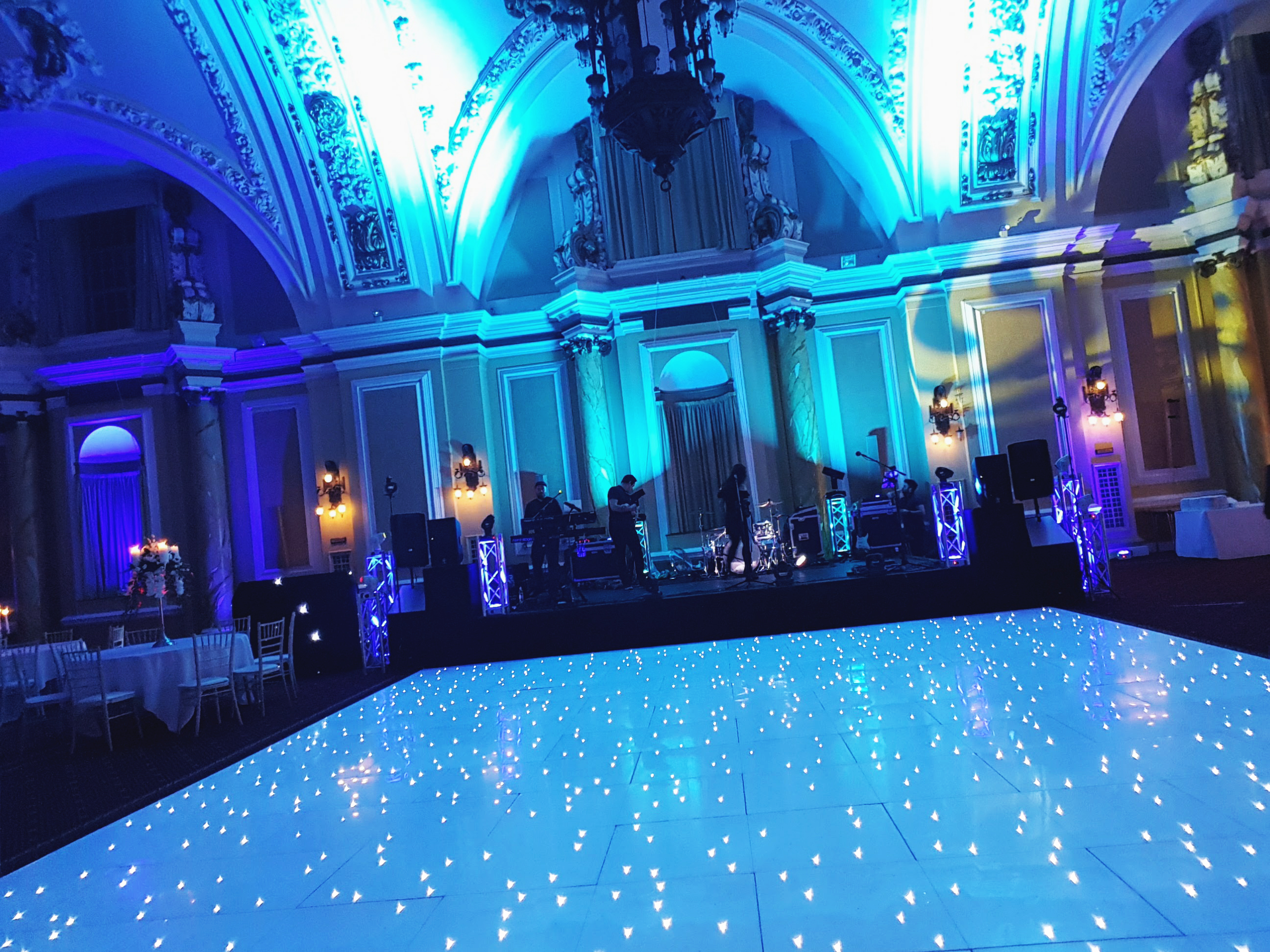 20ft White LED dance floor Cardiff City Hall