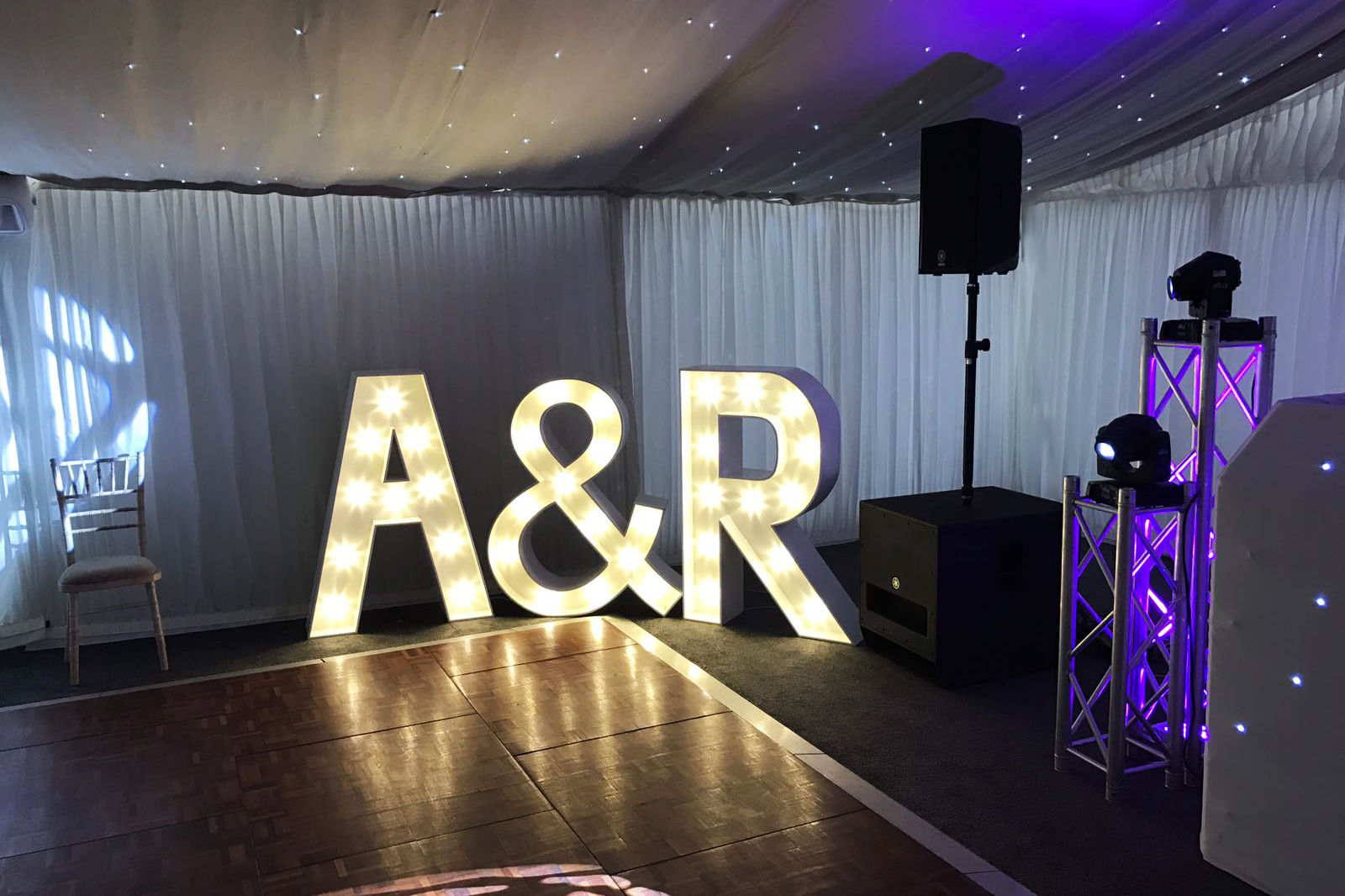 light up letter hire south wales