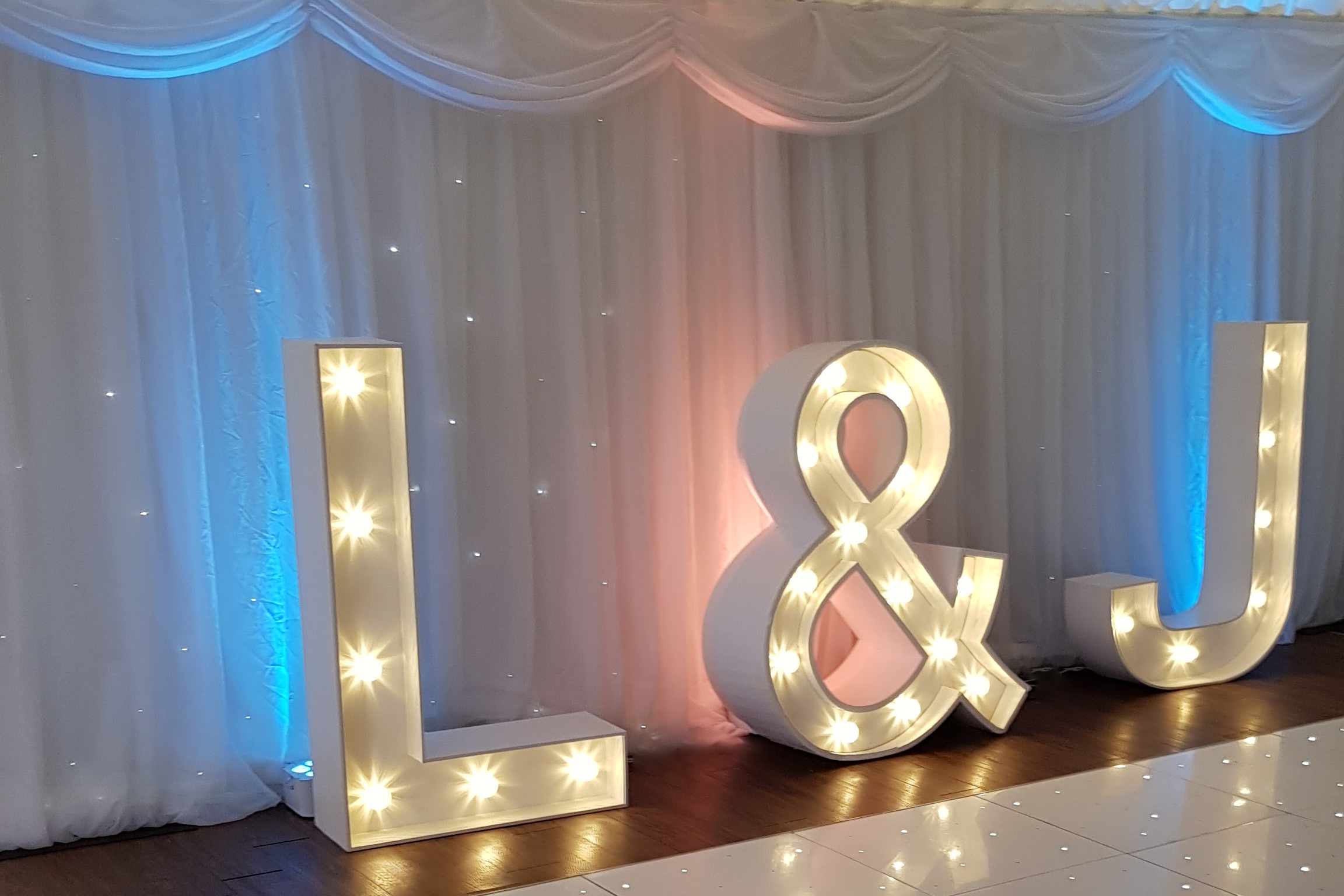 Illuminated light-up initials letters